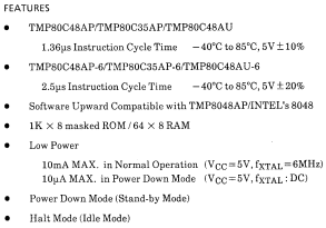 TMP80C35AP