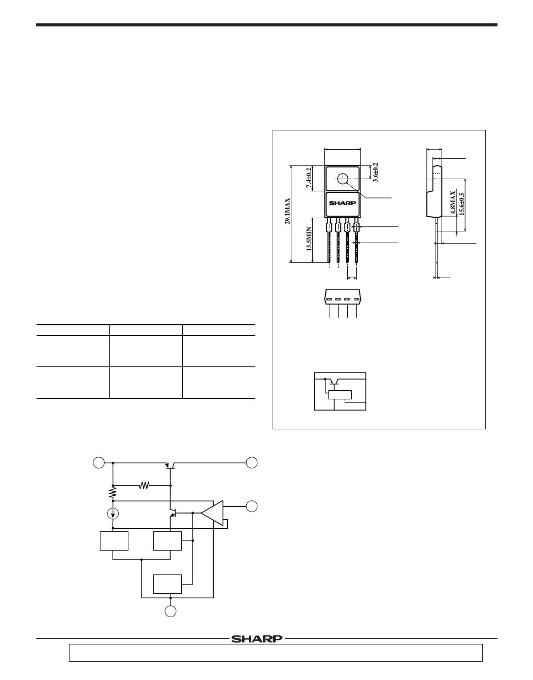 P030RV21 Datasheet PDF, Sharp Electronics :: QDATASHEET