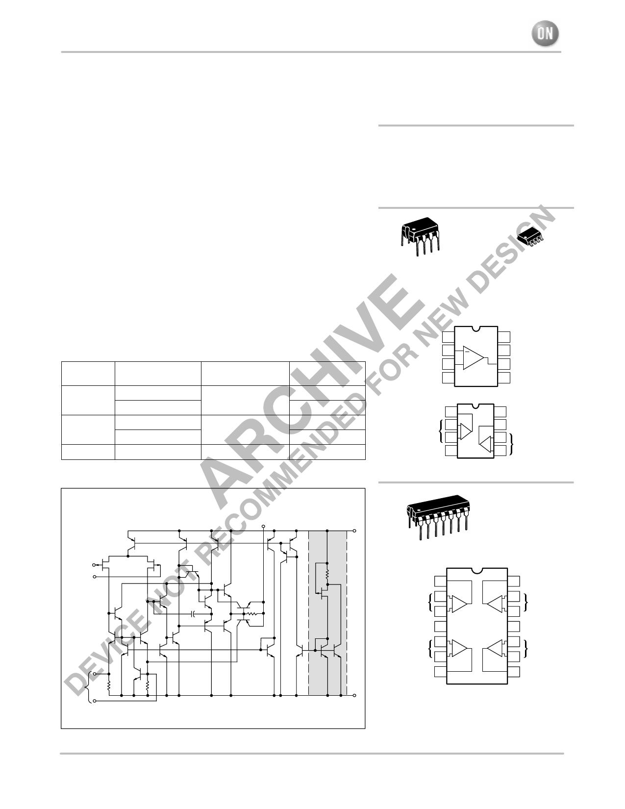 TL081 Datasheet PDF, ON Semiconductor :: QDATASHEET