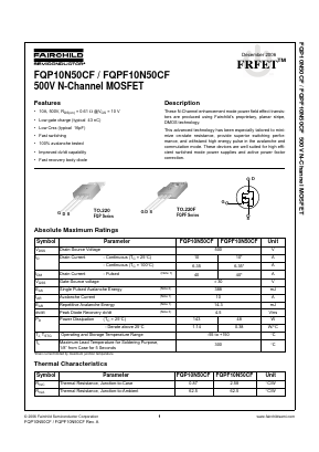 FQPF10N50CF image