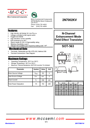 2N7002KV image