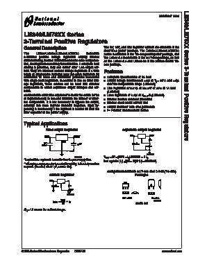 LM340T5 Datasheet PDF National ->Texas Instruts - QDtasheet.com