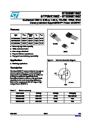 STP2NK100Z image