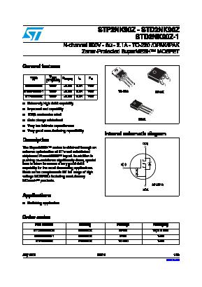 STD2NK90Z-1 image