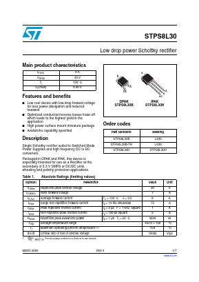 STPS8L30B-TR image