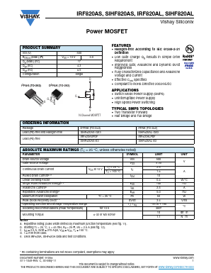 IRF820ALPBF image